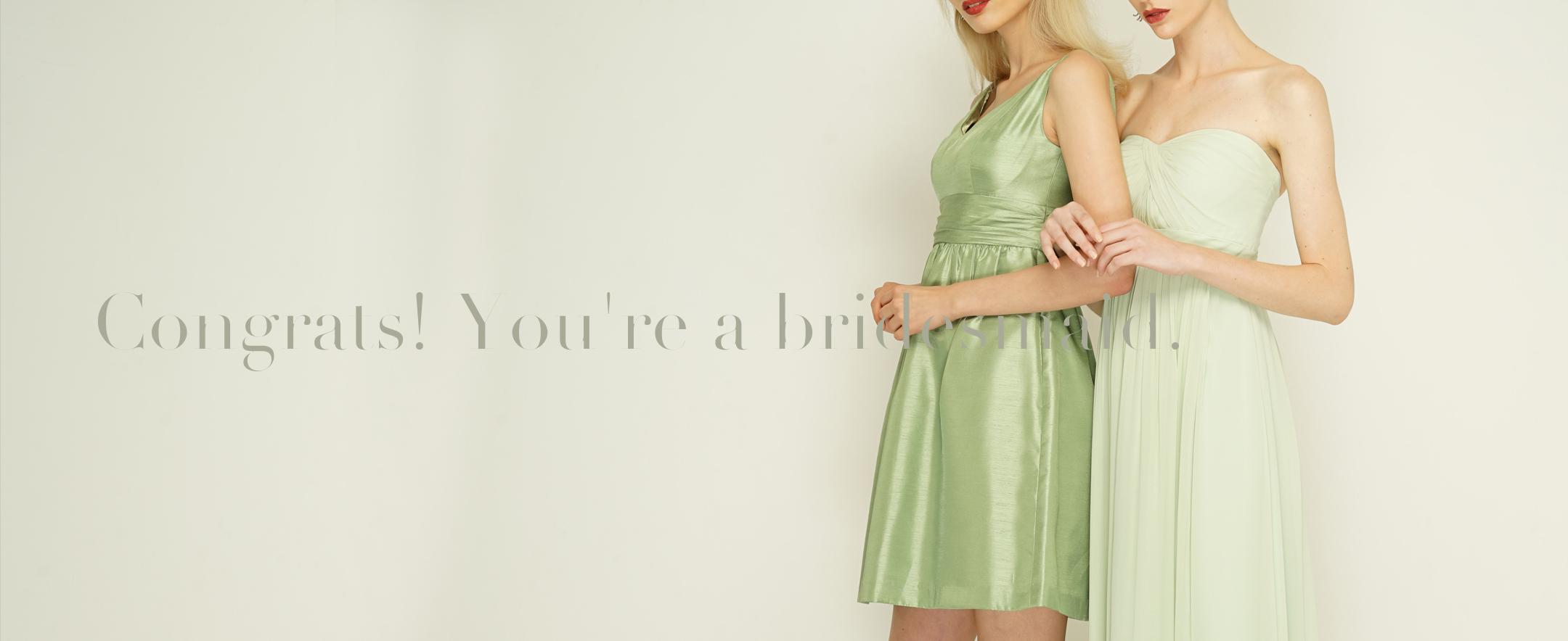 ブライズメイドドレスのレンタル商品一覧ページです。