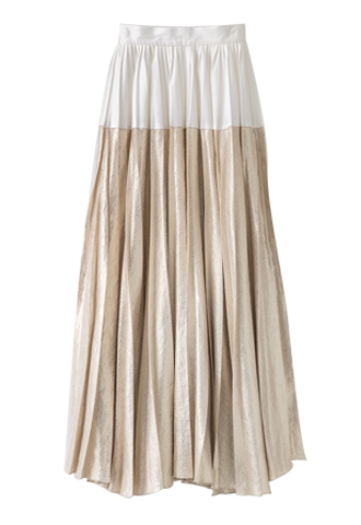 【Lela Rose】SHINY PLEATED SKIRT
