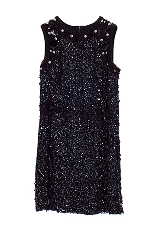 【Monique Lhuillier】SEQUINED MINI DRESS