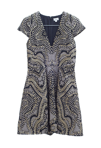 【Temperley London】GOLD JACQUARD DRESS