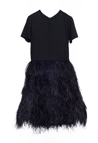 【Morgane Le Fay】FEATHER SKIRT DRESS(36)