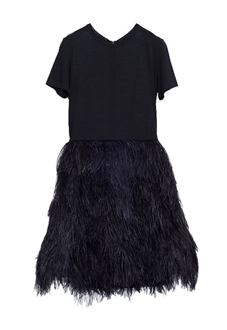 【Morgane Le Fay】FEATHER SKIRT DRESS(38)