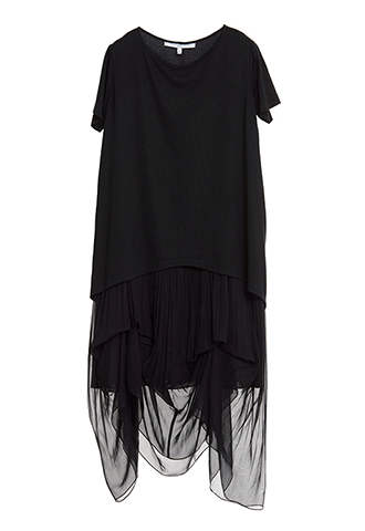 【Morgane Le Fay】SILK FRILL LONG DRESS