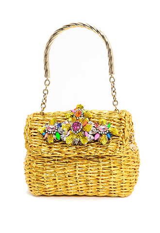 【Shourouk】JEWELED BAG