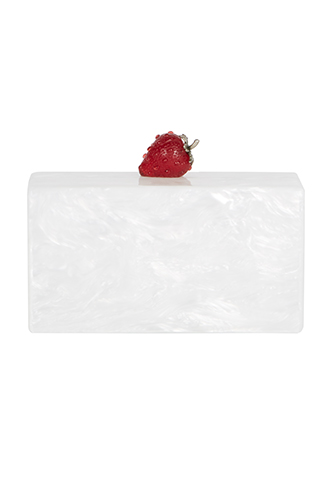 【Edie Parker】JEAN STRAWBERRY CLUTCH