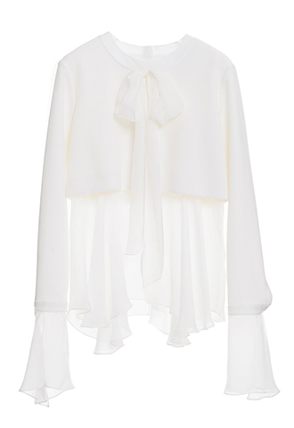 【HOUGHTON】WEDDING BOWTIE BLOUSE